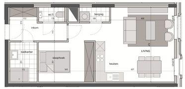 Appartement met slaaphoek