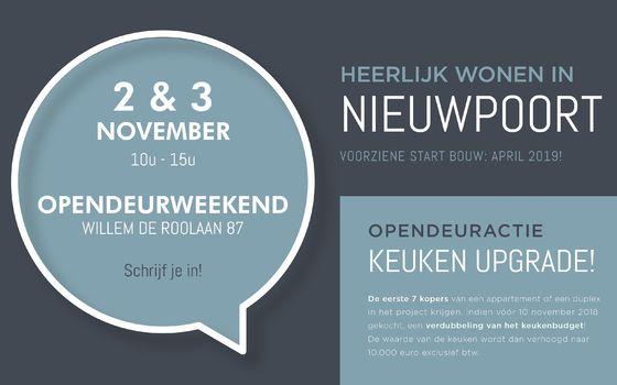 Opendeurweekend vrijdag 2 en zaterdag 3 november